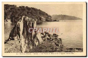 Old Postcard Environs Hyeres Giens Spikes of Beton and Thumbnail view of Niel