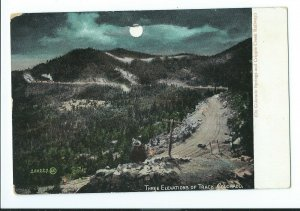 Postcard 1901-1907 Circa THREE ELEVATIONS OF TRACK Colorado Springs, CO VPC1.