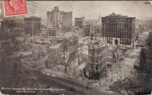 USA District bounded Bush California & Kearny st San Francisco Earthquake 03.66
