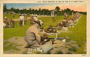 Military, Army Camp, Rifle Practice, Asheville Postcard No. E-4597
