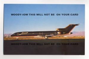 ac209 - Baniff International  Boeing 727-227 at Las Vegas - postcard