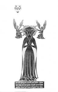 Kent, Hever, St. Peter's Church, Brass of Margaret Cheyne