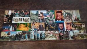 Group of 28 Presidents Kennedy Carter Scenes and More Vintage Postcards J76021
