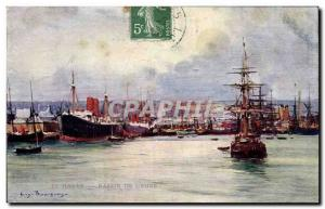 Old Postcard Le Havre of & # 39Eure