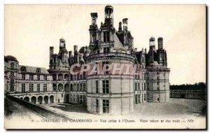 Old Postcard Chateau de Chambord has taken the view & # 39Ouest