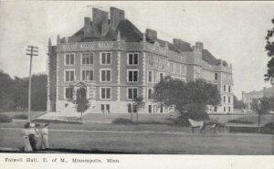 MINNEAPOLIS, Minnesota, PU-1909; Folwell Hall, U. of M.