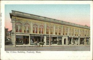 Peabody MA O'Shea Bldg Copper Windows c1905 Reichner Bros Postcard