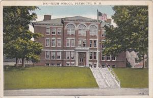 PLYMOUTH, New Hampshire, PU-1934; High School