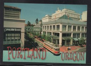 Colour PC Portland Oregon Vintage Trolleyat Pioneer Place unused