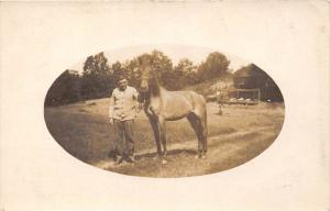 Man on farm  with a Horse, RPC
