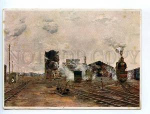 249917 USSR AHR AKhR RAILWAY Station TRAIN YAKOVLEV OLD #308