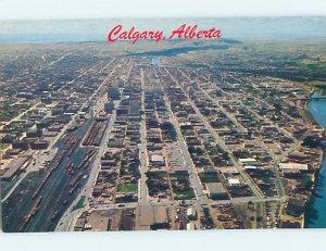 Pre-1980 AERIAL VIEW Calgary Alberta AB AC9790-12