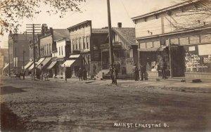 LP69 East Palestine  Ohio RPPC Postcard Main St.