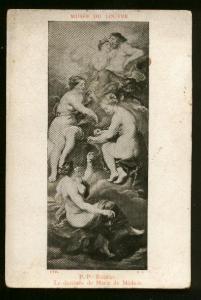 Louvre Painting La Destinee De Marie De Medicis By Rubens - Unused - Some Toning