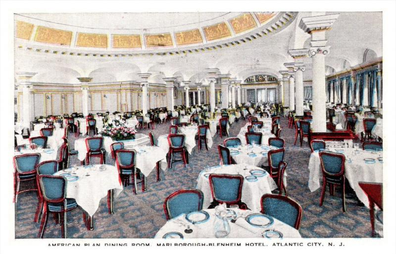 New Jersey Atlantic City , Marlborough-Blenheim Hotel , Dining Room
