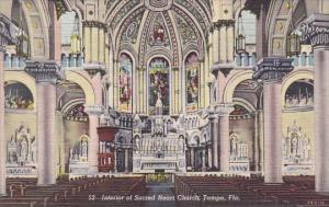 Florida Tampa Interior Of Sacred Heart Church