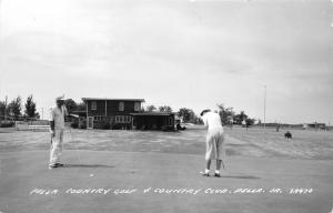 Pella Iowa~Golfing @ Country Club-Golf Course~Bos Landen (?)~1950s RPPC-Postcard
