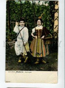 3133028 PORTUGAL MADEIRA Costumes Vintage postcard