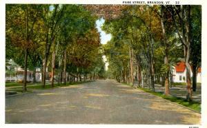 VT - Brandon. Park Street