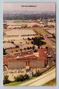 Louisville KY-Kentucky, Executive West Hotel, Chrome Postcard