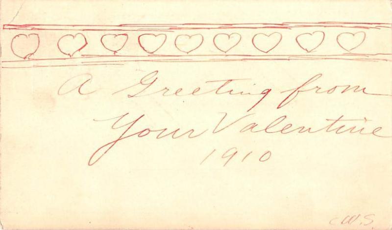 Hand Made Valentines Day 1910