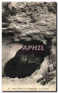 Old Postcard Fontaine de Vaucluse Chasm