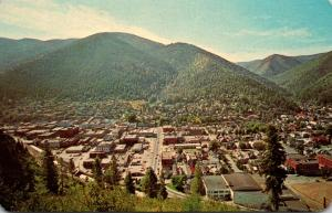 Idaho Wallace Center Of Shoshone County Mines Aerial View