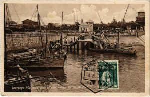 PC CPA MOZAMBIQUE, LOURENCO MARQUES, ONE OF THE JETTIES, POSTCARD (b20764)