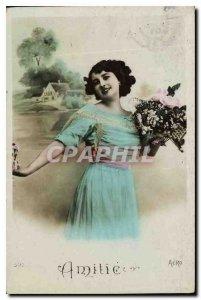 Postcard Old Female Friendship