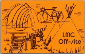 Fulton, Ohio Postcard LUTHERAN MEMORIAL CAMP LMC Off-Site Covered Wagon c1960s