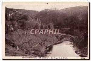 Postcard Old Creuse Pittcresque Crezant Gorges Seielle