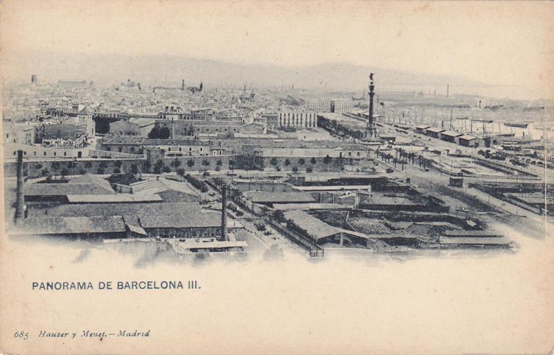 BARCELONA, Cataluna, Spain, 1900-1910´s; Panorama
