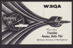 W3QA Baltimore,MD QSL Postcard