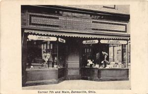 E57/ Zanesville Ohio Postcard c1910 Zulands Photo Shop Drug Store