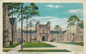 DURHAM, North Carolina, 1910-1920s; The Medical School, Duke University