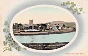 KILLALOE CLARE IRELAND~VIEWED FROM EAST-SHAMROCK OVAL FRAME PHOTO POSTCARD