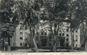 LINCOLN , Illinois , PU-1909 ; Lincoln High School