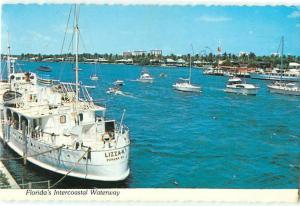 Florida Intercoastal Waters Lizza-K Ships Boats Miami Sails   Postcard  # 6999