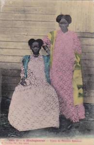 Madagascar Types de Femmes Sakalava