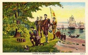 VA - Jamestown. Landing at Jamestown, 1607