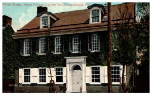 Pennsylvania Germantown Wister Home where General Agnew dies