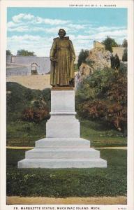 Fr Marquette Statue Mackinac Island Michigan