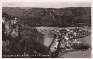 RP: Birds Eye View of Beuron, Sigmaringen, Baden-Wurttemberg, Germany, 1910-20s
