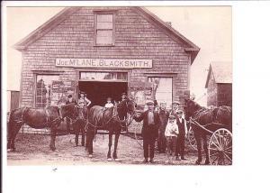 Sherbrooke Village, Sherbrooke, Nova Scotia, Black and White