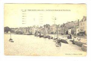 Le Port Et Le Quai De La Rive Droite, Le Pouliguen (Loire-Atlantique), France...