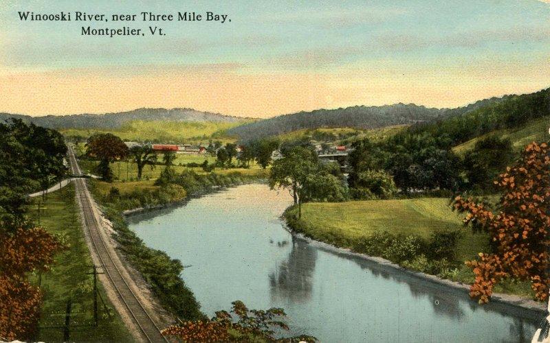 VT - Montpelier. Winooski River near Three Mile Bay