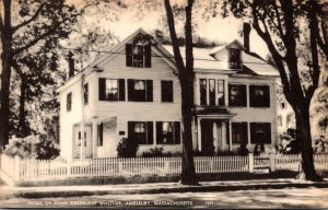 Massachusetts Amesbury Home Of John Greenleaf Whittier 1939