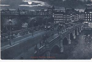 GLASGOW, Scotland, PU-1904; Jamaica Bridge, Night Scene, Horse Carriages