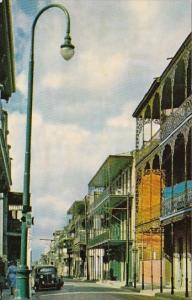 Typical Creole Architecture In The French Quarter Of New Orleans Louisiana
