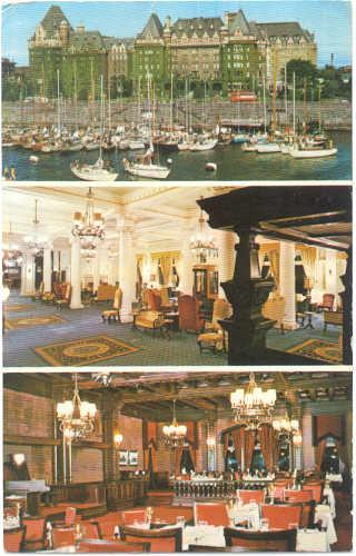 Views of The Empress of Victoria, British Columbia, Canada,  1975 Chrome 1 Card